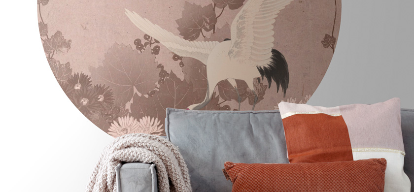 self adhesive round wall mural