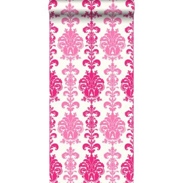 wallpaper baroque print pink from ESTA home