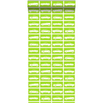 wallpaper cars lime green from ESTA home