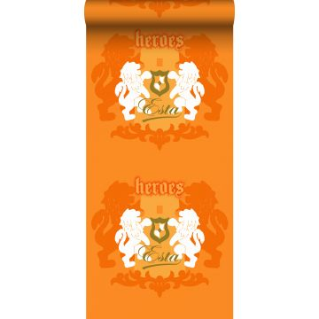 wallpaper lions orange and white from ESTA home