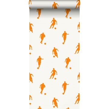 wallpaper football players orange and white from ESTA home