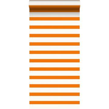 wallpaper stripes orange and white from ESTA home