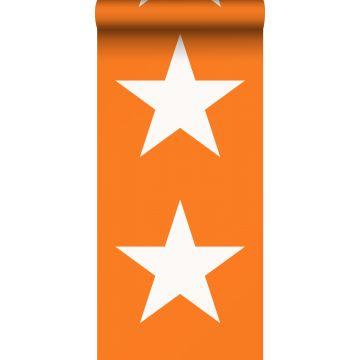 wallpaper stars orange and white from ESTA home