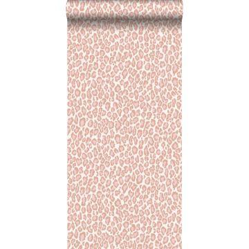 wallpaper leopard skin peach pink from ESTA home
