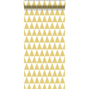 wallpaper graphical triangles mustard from ESTA home