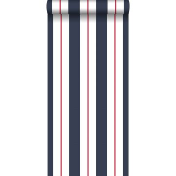 wallpaper stripes blue and red from ESTA home