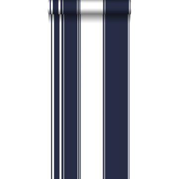 wallpaper stripes navy blue from ESTA home