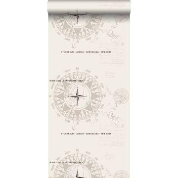 wallpaper compasses beige from ESTA home
