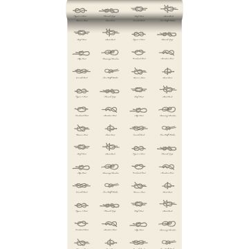 wallpaper knots brown and cream beige from ESTA home