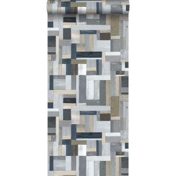 wallpaper scrap wood gray from ESTA home