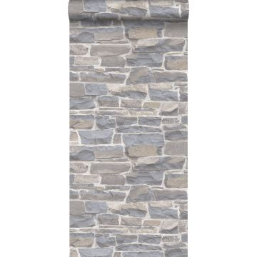 wallpaper brick wall light gray and beige from ESTA home
