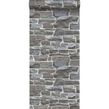 wallpaper brick wall dark gray from ESTA home