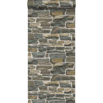 wallpaper brick wall brown from ESTA home