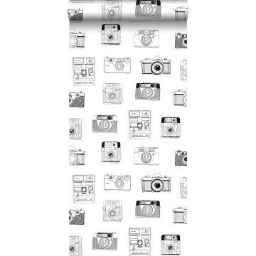 wallpaper polaroid cameras black and white from ESTA home