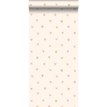 wallpaper little hearts light shiny gold and beige from ESTA home