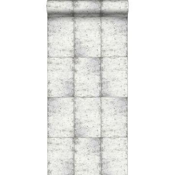 wallpaper zinc plates light warm gray from ESTA home