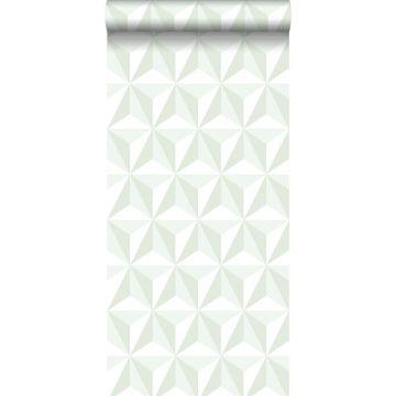 wallpaper graphic 3D mint green from ESTA home