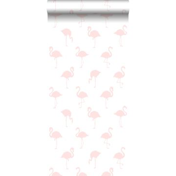 wallpaper flamingos light pink and white from ESTA home