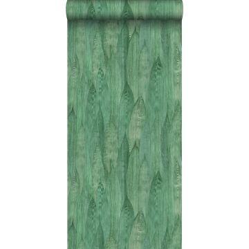 wallpaper leaves jade green from ESTA home