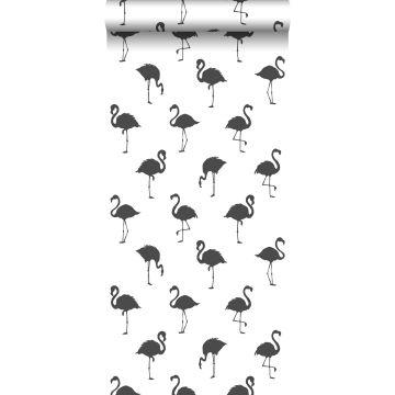 wallpaper flamingos black and white from ESTA home