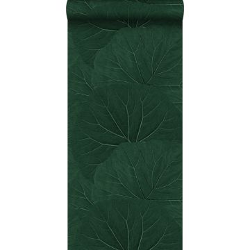wallpaper large leaves emerald green from ESTA home