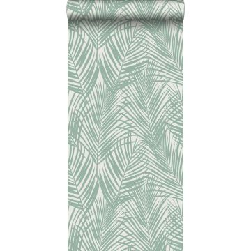 wallpaper palm leaves mint green from ESTA home