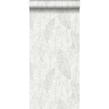 wallpaper pen drawn leaves beige from ESTA home