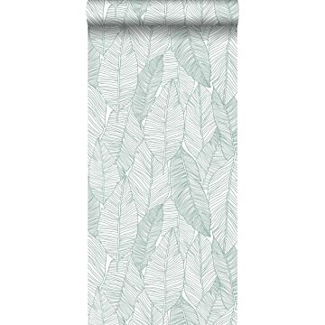 wallpaper pen drawn leaves green from ESTA home
