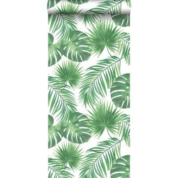 wallpaper tropical leaves green from ESTA home