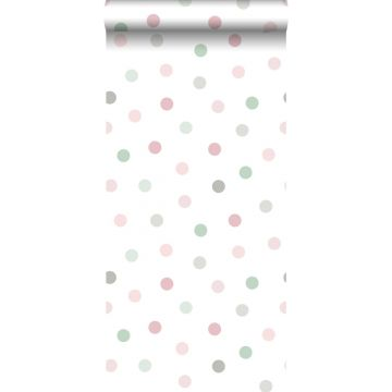 wallpaper dots pink, green and gray from ESTA home