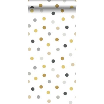 wallpaper dots gold, gray and black from ESTA home