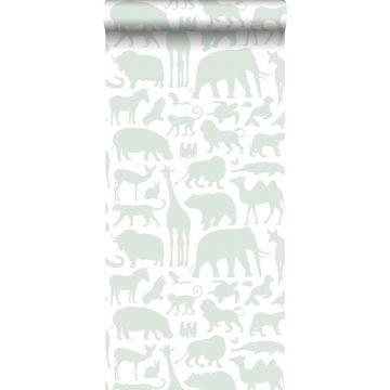 wallpaper animals mint green from ESTA home