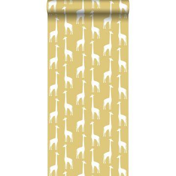 wallpaper giraffes mustard from ESTA home