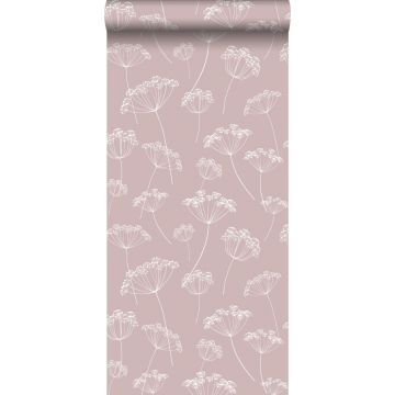 wallpaper umbels antique pink and white from ESTA home