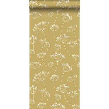 wallpaper umbels mustard and white from ESTA home