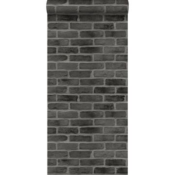 wallpaper brick wall black from ESTA home