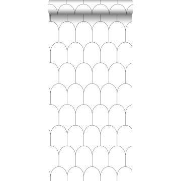 wallpaper art deco motif white and black from ESTA home