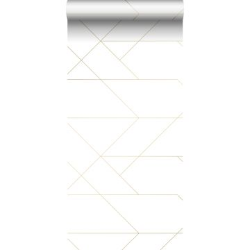 wallpaper graphic lines white and gold from ESTA home