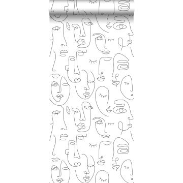 wallpaper faces black and white from ESTA home
