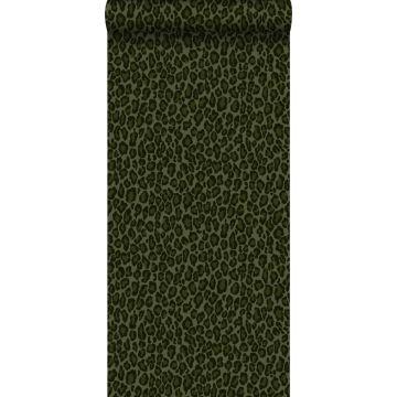 wallpaper leopard skin dark green from ESTA home