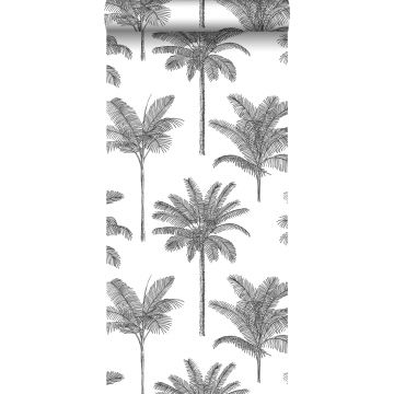 wallpaper palm trees black and white from ESTA home