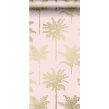 wallpaper palm trees soft pink and gold from ESTA home