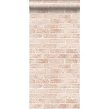 wallpaper bricks light peach pink from ESTA home