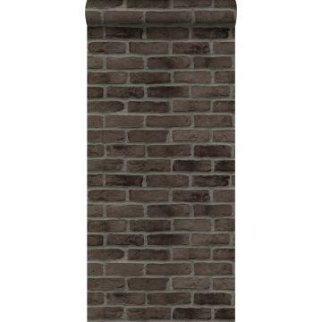 wallpaper bricks dark brown from ESTA home