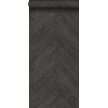 wallpaper wood effect dark gray from ESTA home