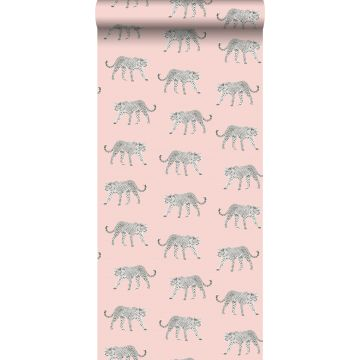 wallpaper panters soft pink from ESTA home