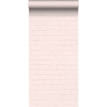 wallpaper bricks soft pink from ESTA home