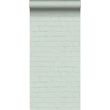 wallpaper bricks mint green from ESTA home