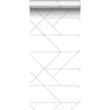 wallpaper graphic lines black and white from ESTA home