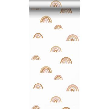 wallpaper rainbows terracotta, soft pink and beige from ESTA home